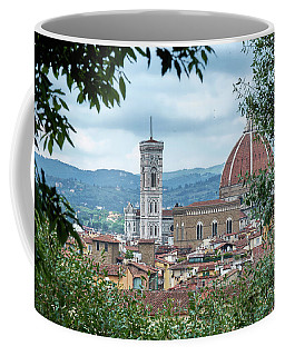 Florence And The Cathedral From The Boboli Gardens Coffee Mug