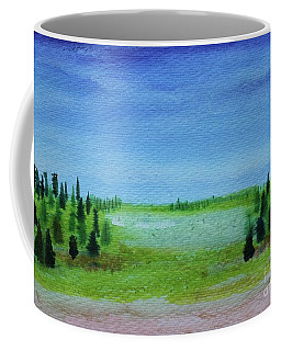 Coffee Mug featuring the painting Florid Forest by Kim Nelson