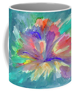 Coffee Mug featuring the painting Flowering Abstract 1 by Dobrotsvet Art