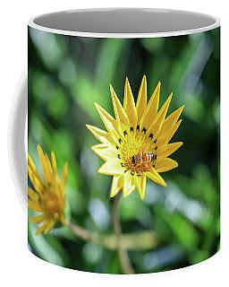 Yellow Flowers And A Bee Coffee Mug
