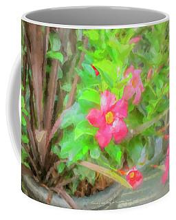 Flowers And Flag On Summer Deck Coffee Mug