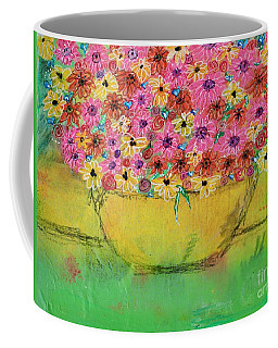 Coffee Mug featuring the painting Flowers For Debbie by Kim Nelson