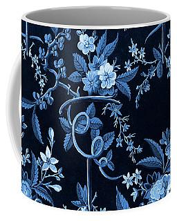 Flowers On Dark Background, Textile Design Coffee Mug