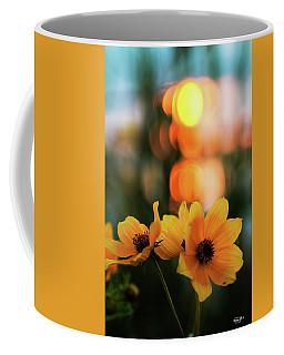 Flowery Bokeh Sunset Coffee Mug