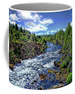 Coffee Mug featuring the photograph Flowing Stream by Anthony Dezenzio