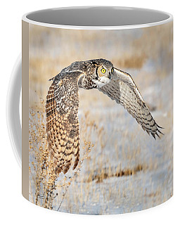 Flying Great Horned Owl Coffee Mug