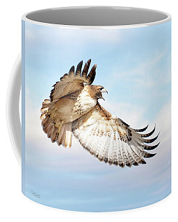 Flying Red-tailed Hawk Coffee Mug