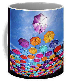 Flying Umbrellas II Coffee Mug