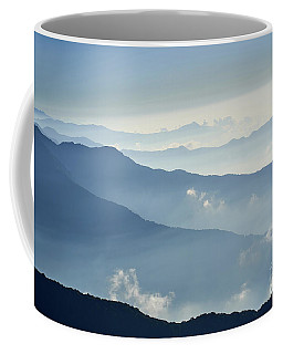 Fog Above Mountain In Valley Himalayas Mountains Coffee Mug