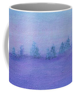 Coffee Mug featuring the painting Fog Descending by Kim Nelson