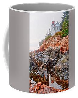 Foggy Bass Harbor Lighthouse Coffee Mug