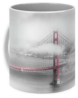 Foggy Golden Gate Bridge - Colorkey Coffee Mug