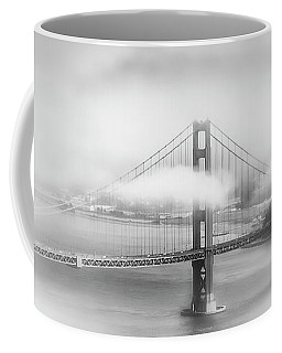 Foggy Golden Gate Bridge - Monochrome Coffee Mug
