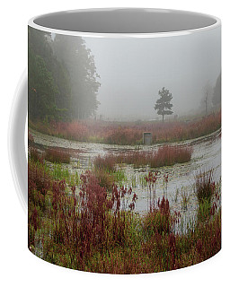 Foggy Morning At Cloverdale Farm Coffee Mug