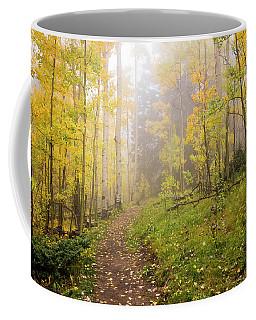 Foggy Winsor Trail Aspens In Autumn 2 - Santa Fe National Forest New Mexico Coffee Mug