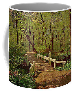 Footbridge Through The Woods Coffee Mug