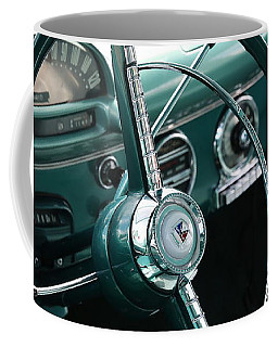 Coffee Mug featuring the photograph 1955 Ford Fairlane Steering Wheel by Debi Dalio