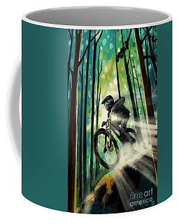 Forest Jump Mountain Biker Coffee Mug