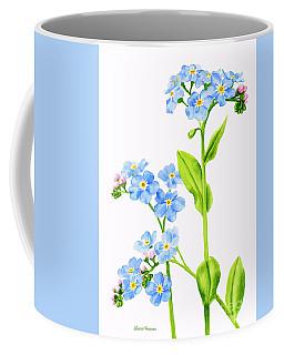 Forget-me-nots On White Coffee Mug