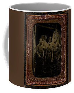Four Men With Tools  Ca  1860 Ambrotype Coffee Mug