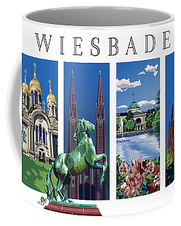 Four Views Of Wiesbaden Coffee Mug