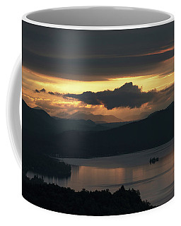 Coffee Mug featuring the photograph Fourth Lake First Light by Brad Wenskoski