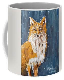 Fox Winter Night Coffee Mug