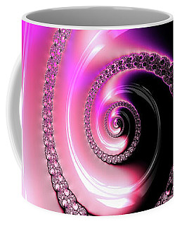 Coffee Mug featuring the photograph Fractal Spiral Pink Purple And Black by Matthias Hauser