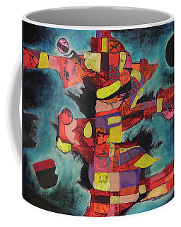 Coffee Mug featuring the painting Fractured Fire by Mark Jordan