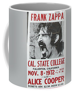 Frank Zappa Alice Cooper 1972 Poster Coffee Mug