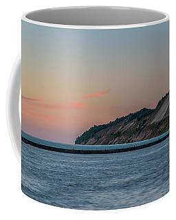 Frankfort North Breakwater Lighthouse Dusk Panorama Coffee Mug