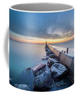 Frankfort Pier At Dusk In Winter Coffee Mug