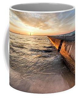 Frankfort Pier Sunset 2x1 Coffee Mug