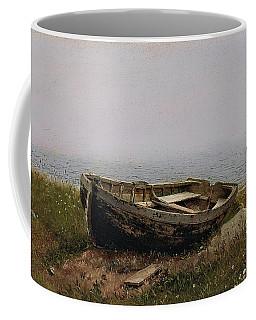 Frederic Edwin Church -hartford, 1826-new York, 1900-. Abandoned Skiff -1850-. Oil On Cardboard. ... Coffee Mug