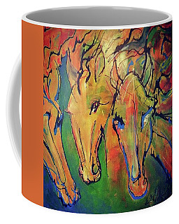 Coffee Mug featuring the painting Free by Blake Emory