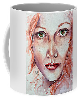 Coffee Mug featuring the painting Freedom And Uncertainty by Michal Madison