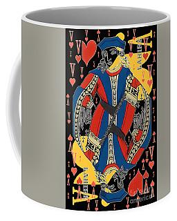 French Playing Card - Lahire, Valet De Coeur, Jack Of Hearts Pop Art - #2 Coffee Mug