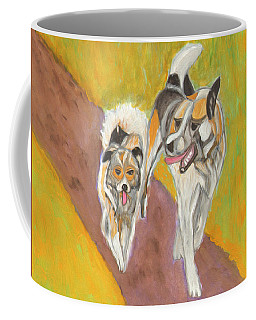 Coffee Mug featuring the painting Friends by Dobrotsvet Art