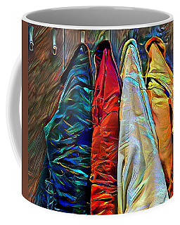 Coffee Mug featuring the digital art Friends by Pennie McCracken