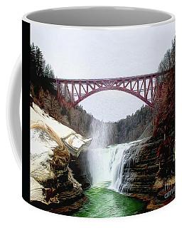 Frletchworth Railroad And Falls Coffee Mug