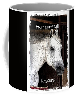 Coffee Mug featuring the photograph From Our Stall To Yours by Jerry Sodorff