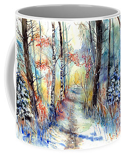 Frosty Blades Of Grass Coffee Mug