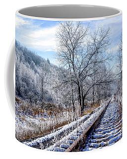 Frosty Morning On The Railroad Coffee Mug
