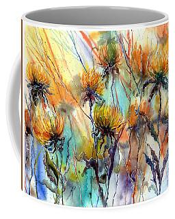 Frozen Chrysanthemums Coffee Mug