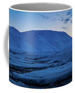 frozen coastline near Longyearbyen Coffee Mug
