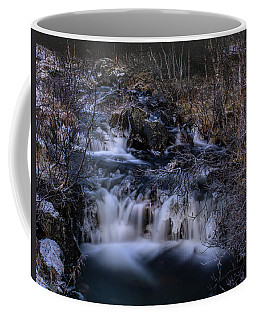 Frozen River In Forest - Long Exposure With Nd Filter Coffee Mug