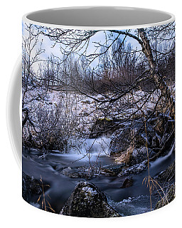Frozen Tree In Winter River Coffee Mug