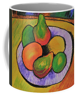 Coffee Mug featuring the tapestry - textile Fruit Bowl After Cezanne by Howard Bagley