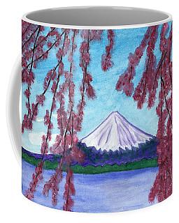 Fuji Mountain And Sakura Coffee Mug