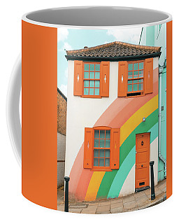 Funky Rainbow House Coffee Mug